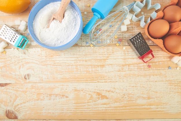 Ingrédients et outils de cuisson