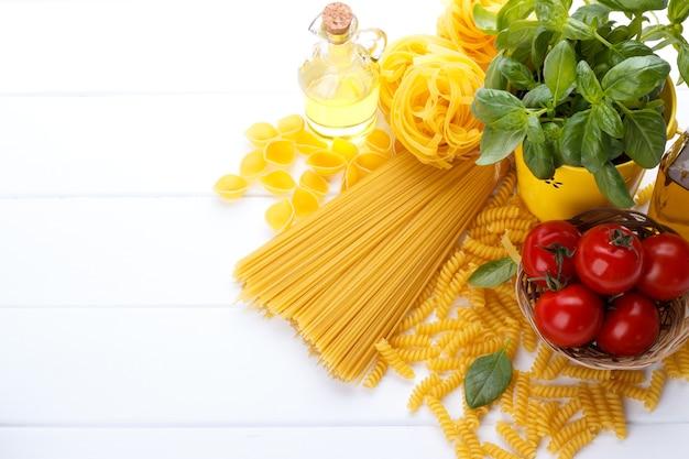 Ingrédients de pâtes italiennes