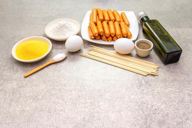 Ingrédients pour chiens de maïs