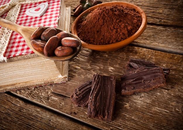 Ingrédients pour le chocolat artisanal