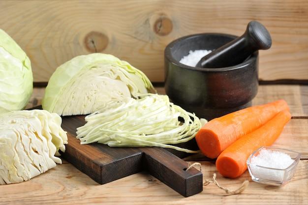 Ingrédients pour la choucroute
