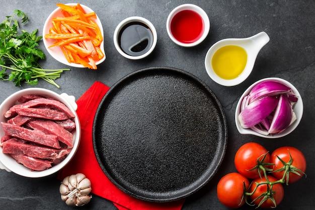 Ingrédients pour cuisiner un plat péruvien