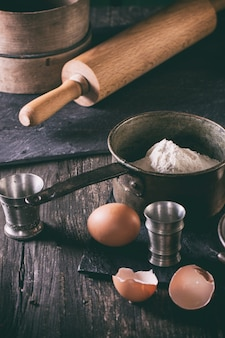 Ingrédients pour la fabrication de la pâte
