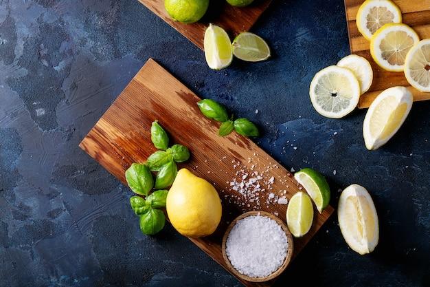 Ingrédients pour faire un cocktail