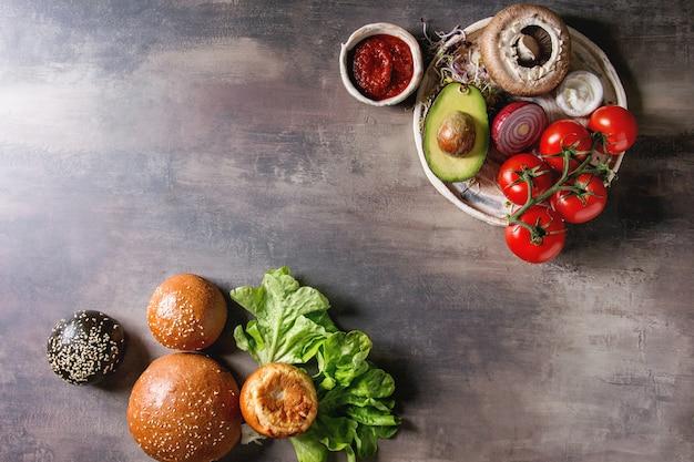 Ingrédients pour hamburgers