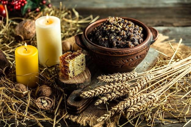 Ingrédients pour la kutia traditionnelle