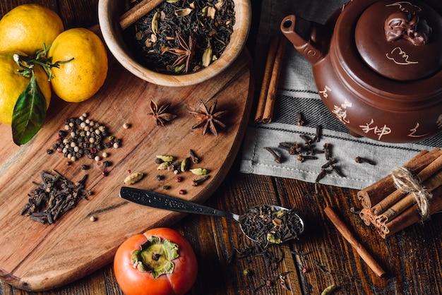 Ingrédients pour masala chai
