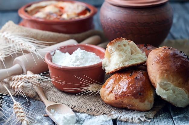 Ingrédients pour pain maison