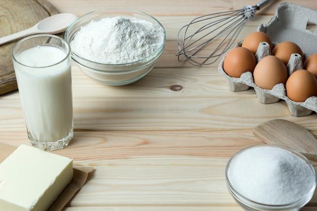 Ingrédients pour la pâte à pâte