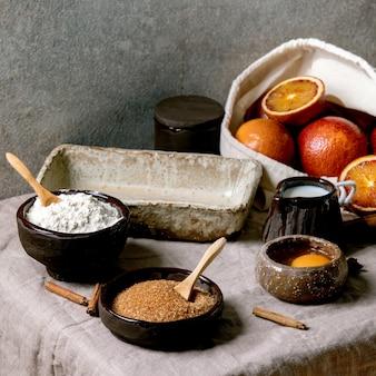Ingrédients pour la pâtisserie maison
