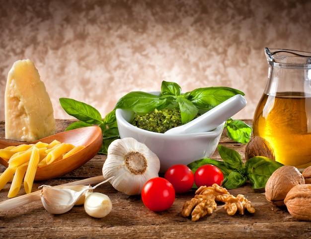 Ingrédients pour le pesto