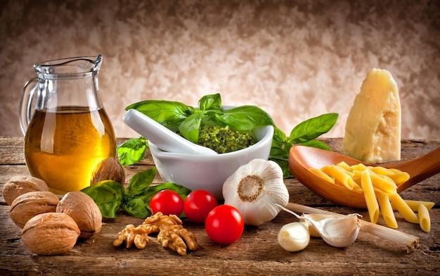 Ingrédients pour pesto