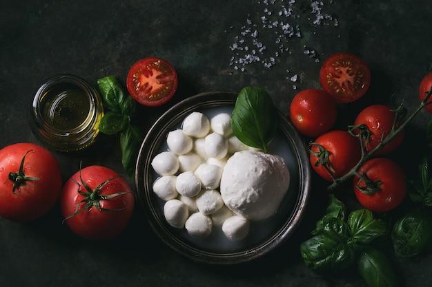 Ingrédients pour la salade caprese