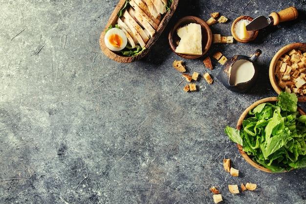 Ingrédients pour la salade césar