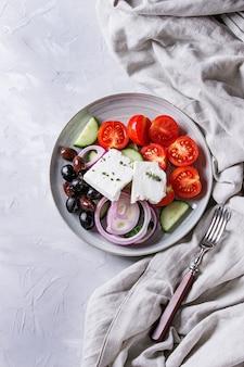 Ingrédients pour la salade grecque