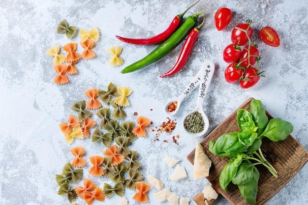 Ingrédients pour sauce à pâtes
