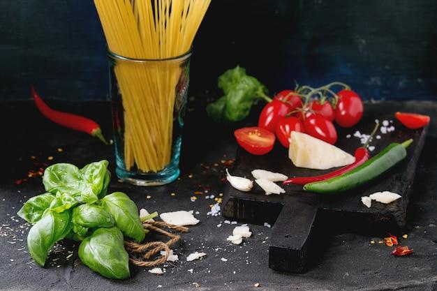 Ingrédients pour sauce à spaghetti