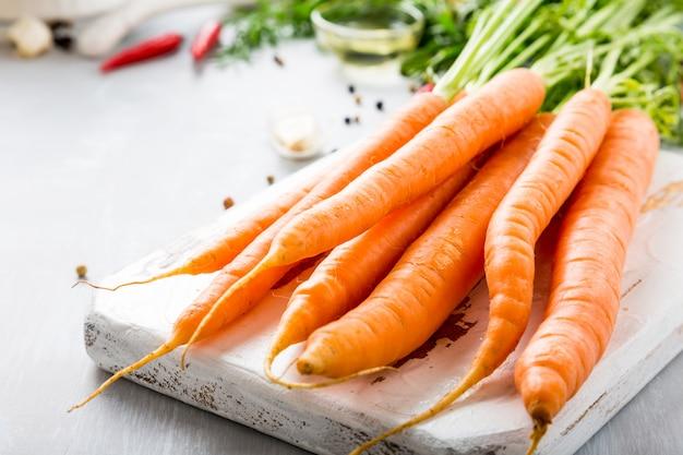 Ingrédients pour soupe de carottes