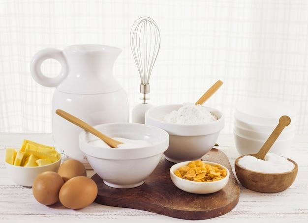 Ingrédients de préparation de la pâtisserie