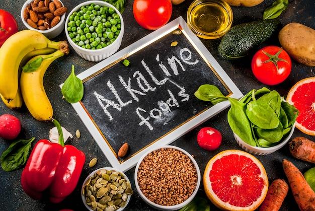 Ingrédients de régime alcalins