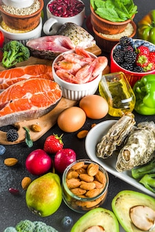 Ingrédients de régime pescetarian