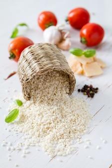 Ingrédients de risotto