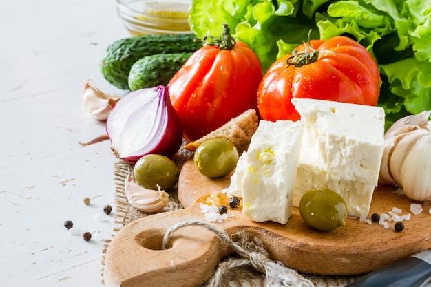 Ingrédients de salade grecque