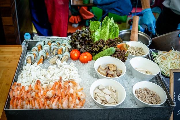 Ingrédients viande de fruits de mer