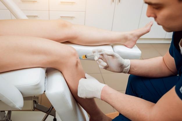 Injection plasmatique riche en plaquettes du genou
