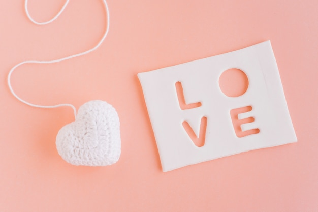 Inscription d'amour avec petit coeur