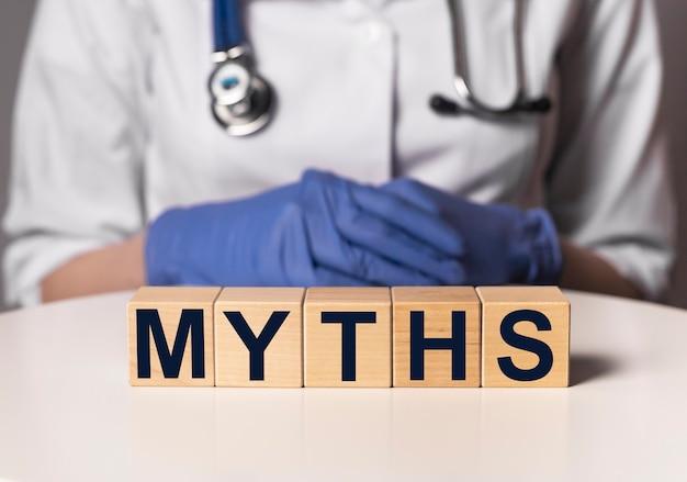 Inscription de mythes médicaux, mot