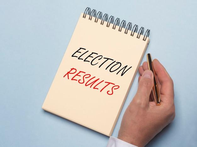 Inscription des résultats des élections
