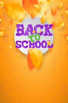 Inscription retour à l'école, éléments d'éducation. , affiche à vendre