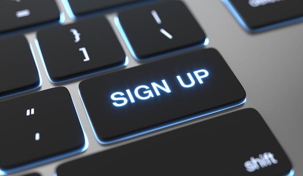 Inscrivez-vous le texte écrit sur le bouton du clavier