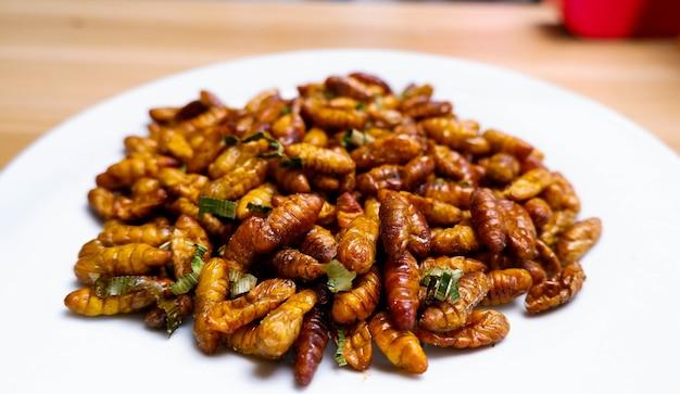 L'insecte de nourriture est le régime riche en protéines de repas sain