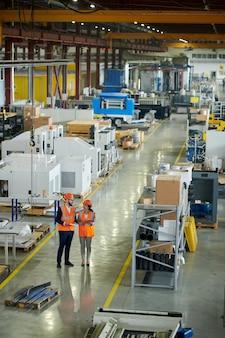 Inspection en atelier d'usine