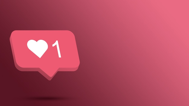 Instagram comme icône de notification 3d