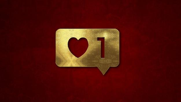 Instagram comme la notification. concept de la saint-valentin