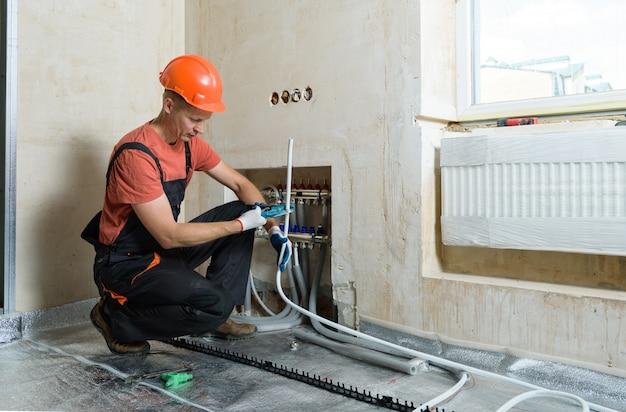 Installation d'un plancher chaud