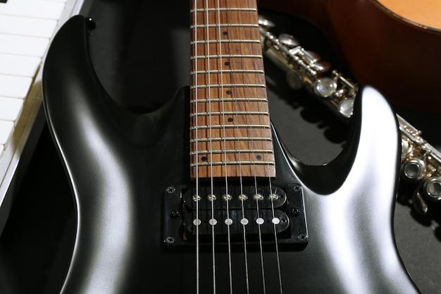 Instruments de musique, gros plan