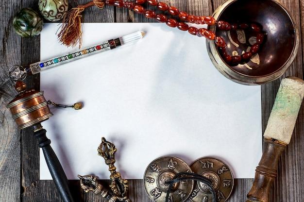 Instruments de musique tibétains pour la méditation