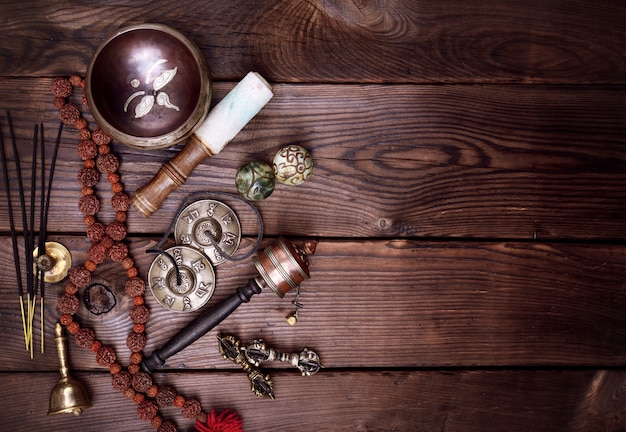 Instruments religieux musicaux pour pratiques bouddhistes