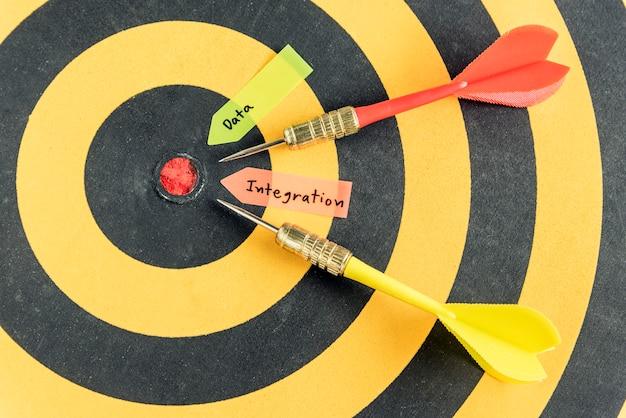 Intégration de données de mots avec cible de dart