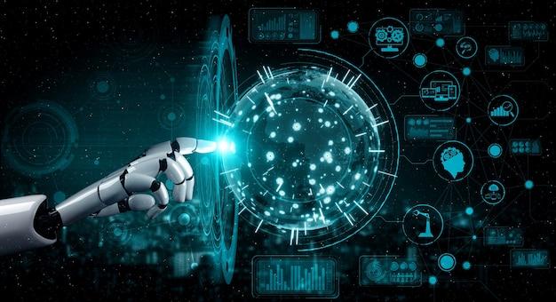 Intelligence artificielle, recherche sur le développement de robots et de cyborgs