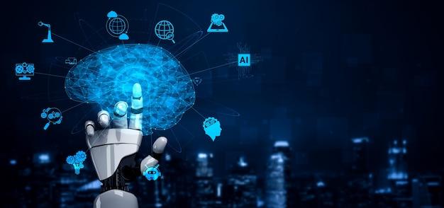 Intelligence artificielle, recherche en intelligence artificielle sur le développement de robots et de cyborgs