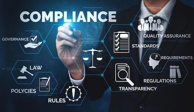 Interface graphique de règles de conformité et de réglementation pour la politique de qualité d'entreprise