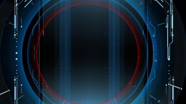 Interface hud. conception d'illustration.