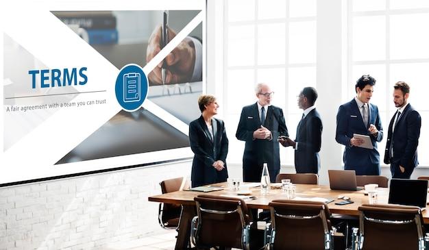 Interface de page web d'accord de contrat équitable