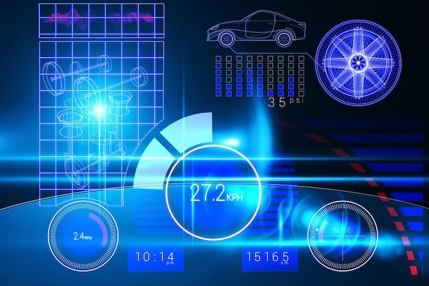 Interface de voiture de technologie