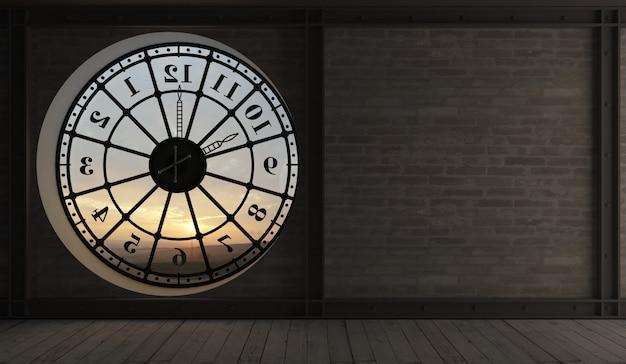 L'intérieur de l'ancienne tour de l'horloge.